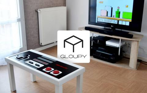 Mobilier Geek : les tables basses Gloupy d'Antone